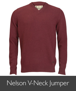 Barbour Nelson V-Neck Jumper for AW15