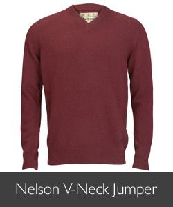 Barbour Nelson V-Neck Jumper for AW15