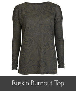 Barbour William Morris Ruskin Burnout Top available at Philip Morris and Son