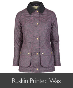 Barbour William Morris Ruskin Printed Wax Jacket available at Philip Morris and Son