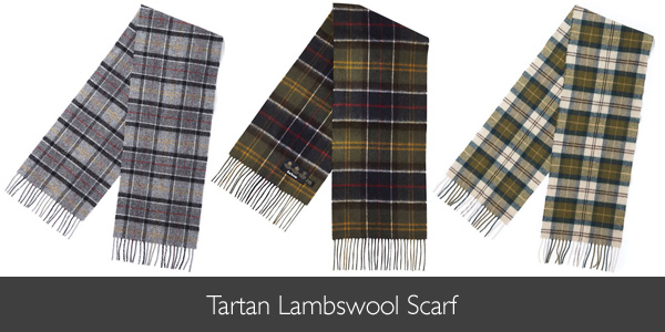 Men's Barbour Tartan Lambswool Scarf available at Philip Morris and Son
