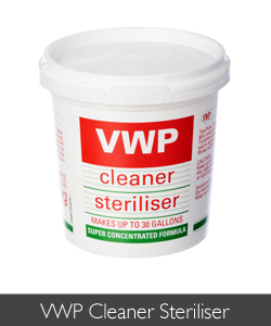 VWP Cleaner Steriliser is available at Philip Morris and Son