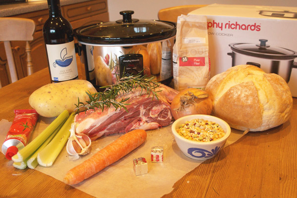 Slow Cooked Lamb Stew ingredients