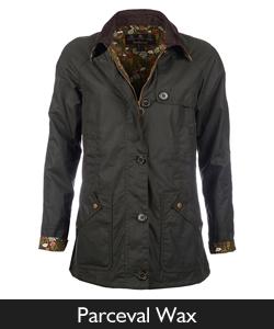 Ladies Barbour Parceval Waxed Jacket