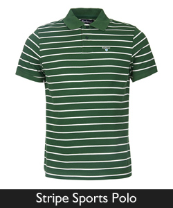 Barbour Stripe Sports Polo from Philip Morris and Son
