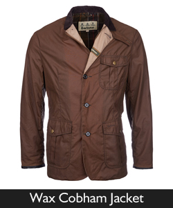 Barbour Wax Cobham Jacket for SS16
