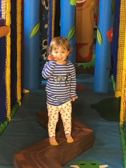 Willow having fun at Jump In Gym
