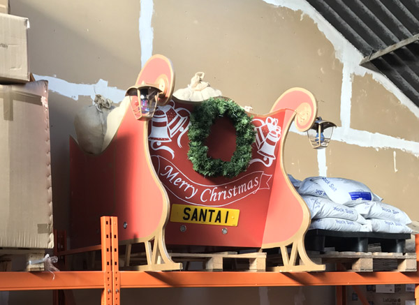 The Warehouse Team are helping keep Santa's sleigh safe until next year