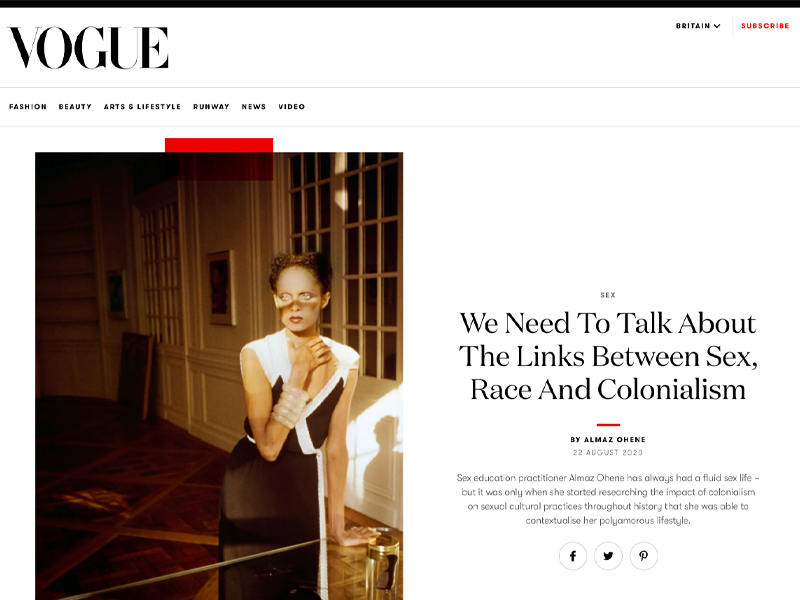 'We Need To Talk About The Links Between Sex, Race And Colonialism' article