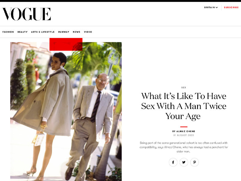 'What It's Like To Have Sex With A Man Twice Your Age' article
