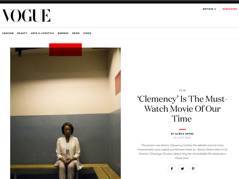 ''Clemency' Is The Must-Watch Movie Of Our Time' article