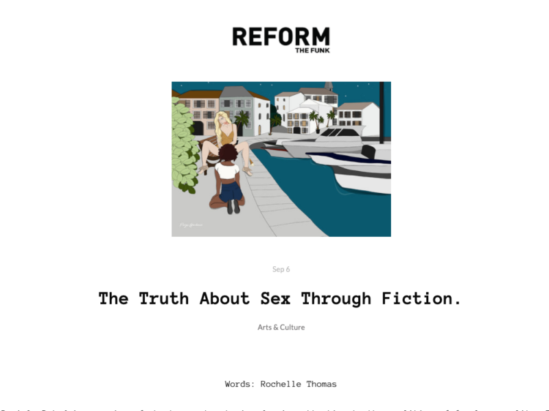 'The Truth About Sex Through Fiction' article