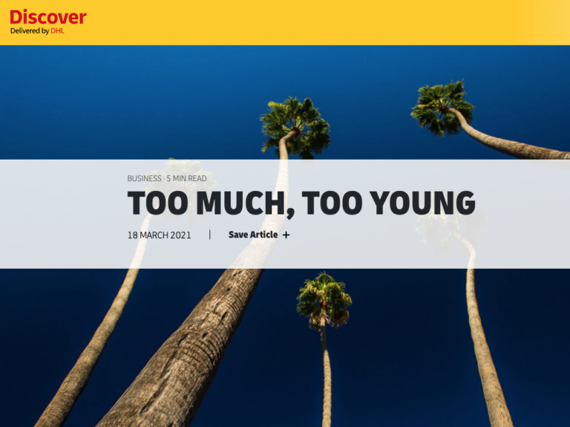 'Too much, too young' article