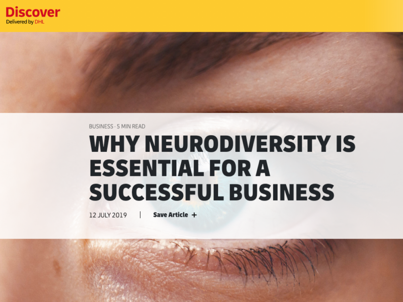 'Why neurodiversity is essential for a successful business' article