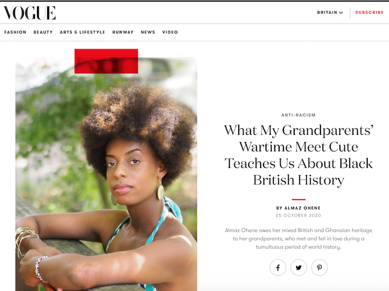 'What My Grandparents' Wartime Meet Cute Teaches Us About Black British History' article
