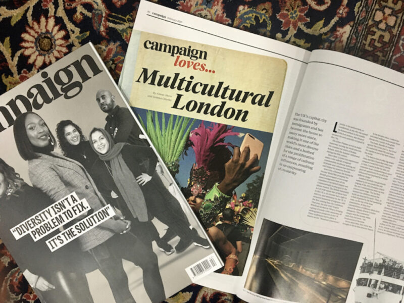 'Campaign Loves Multicultural London' article
