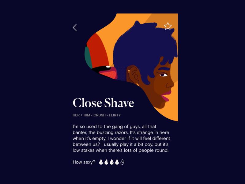 Dipsea app Close Shave screen