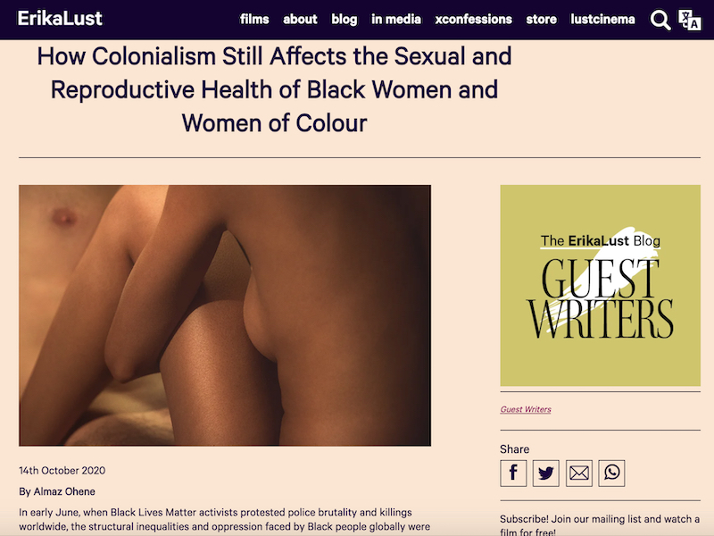 'How Colonialism Still Affects the Sexual and Reproductive Health of Black Women and Women of Colour' article