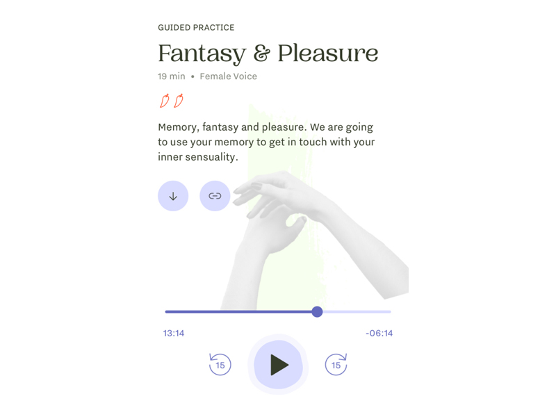 FERLY app Fantasy and Pleasure screen