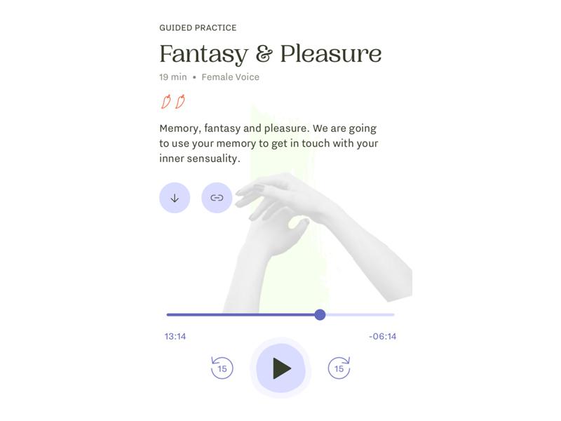 FERLY app Fantasy and Pleasure screen