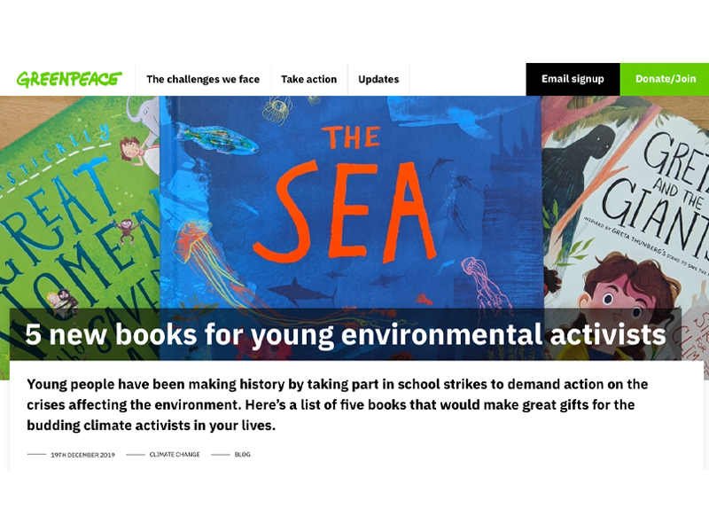 'Christmas gift ideas: 5 new books for environmental activists' article
