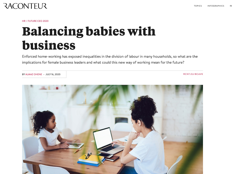 'Balancing babies With business' article