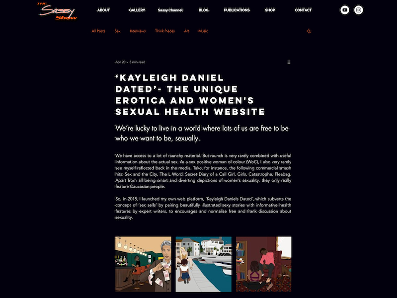 ''Kayleigh Daniels Dated' – The Unique Erotica and Women's Sexual Health Website' article