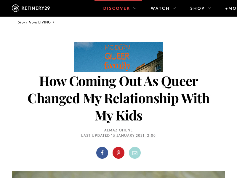 'How Coming Out As Queer Changed My Relationship With My Kids' article