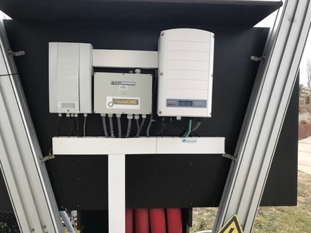Grid feeder grid-tie inverter (Ginlong inverter) as connected to the energy blockchain demo