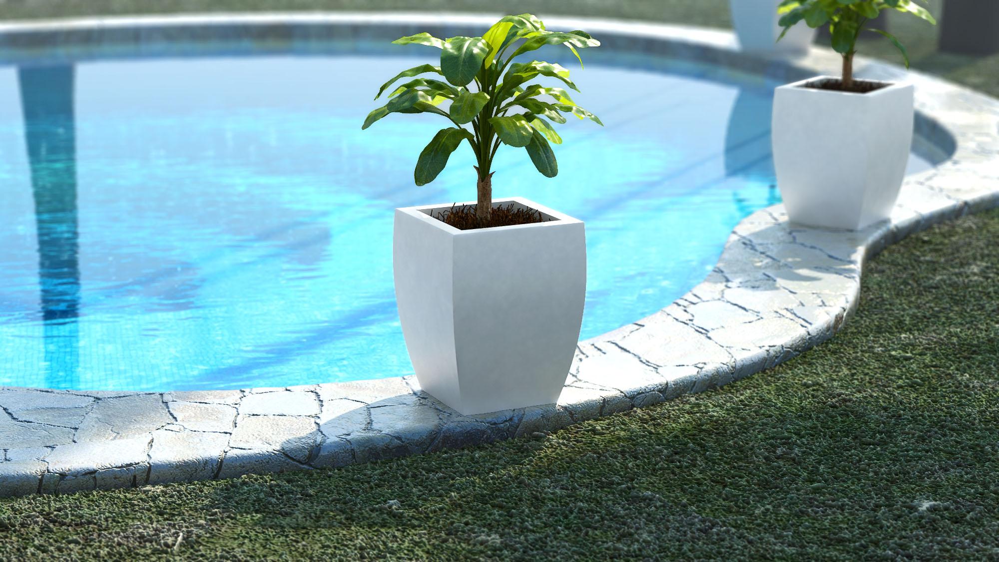 3d product rendering beautiful flower pot credo