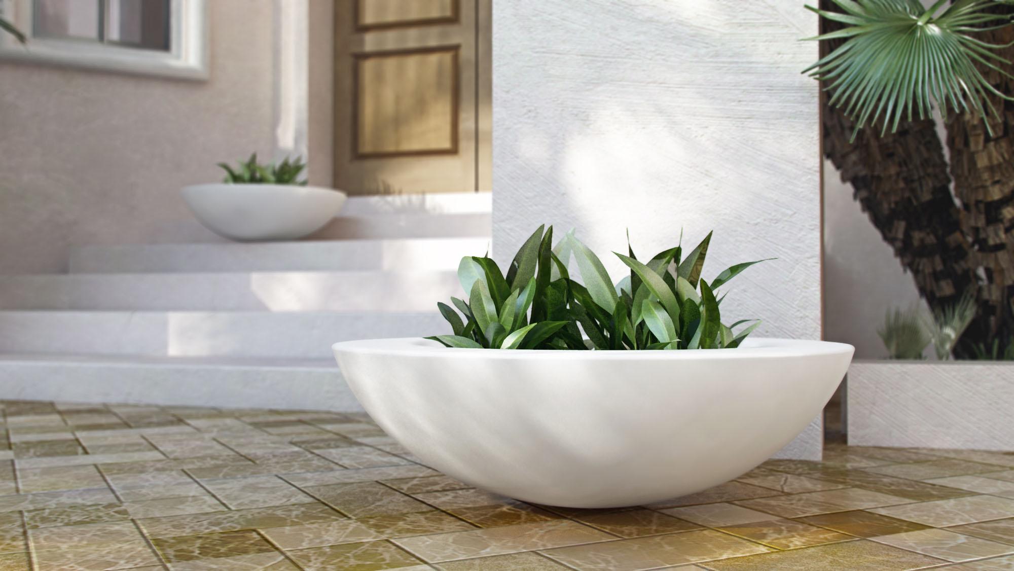 credo 3d product rendering flower pot