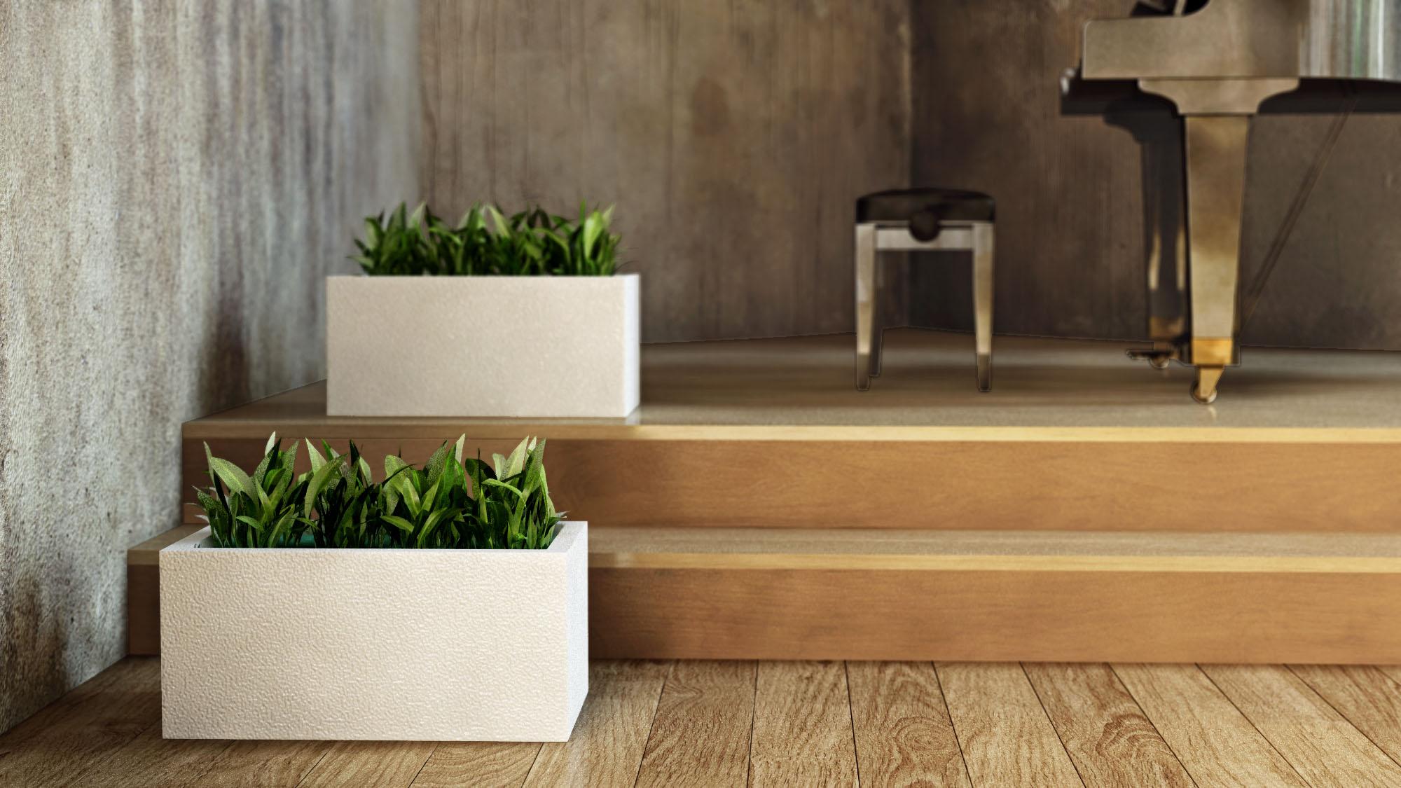 credo flower pots 3d product rendering