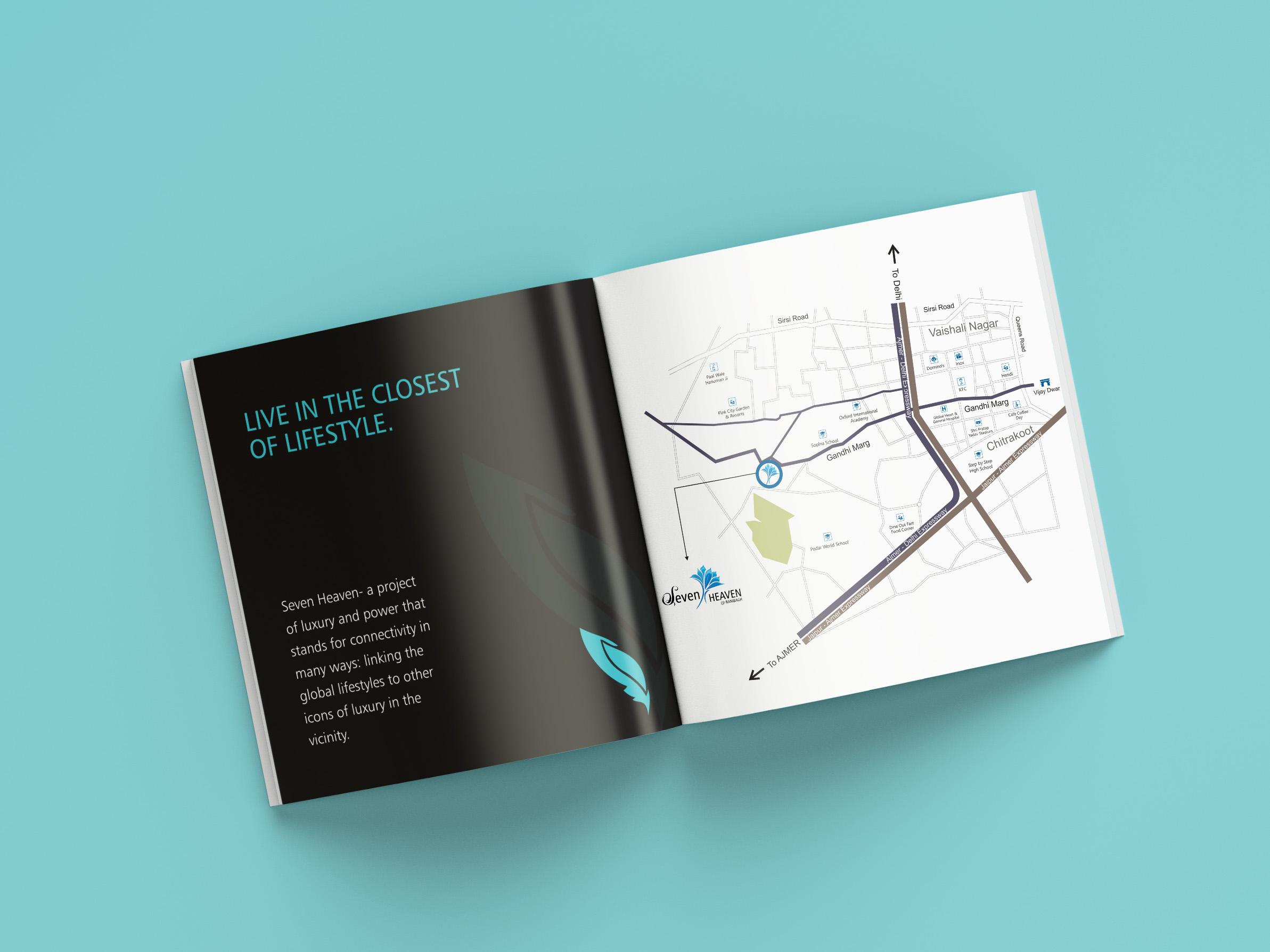 seven heaven 3d rendering brochures