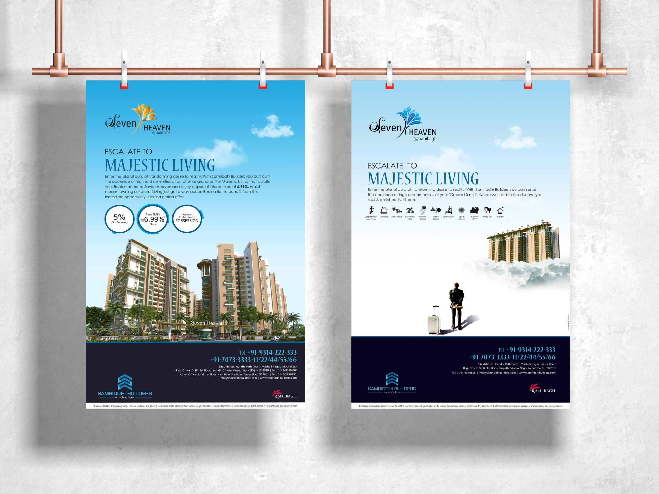 seven heaven 3d rendering brochure