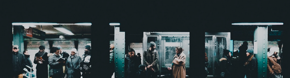 People waiting at a subway or underground station