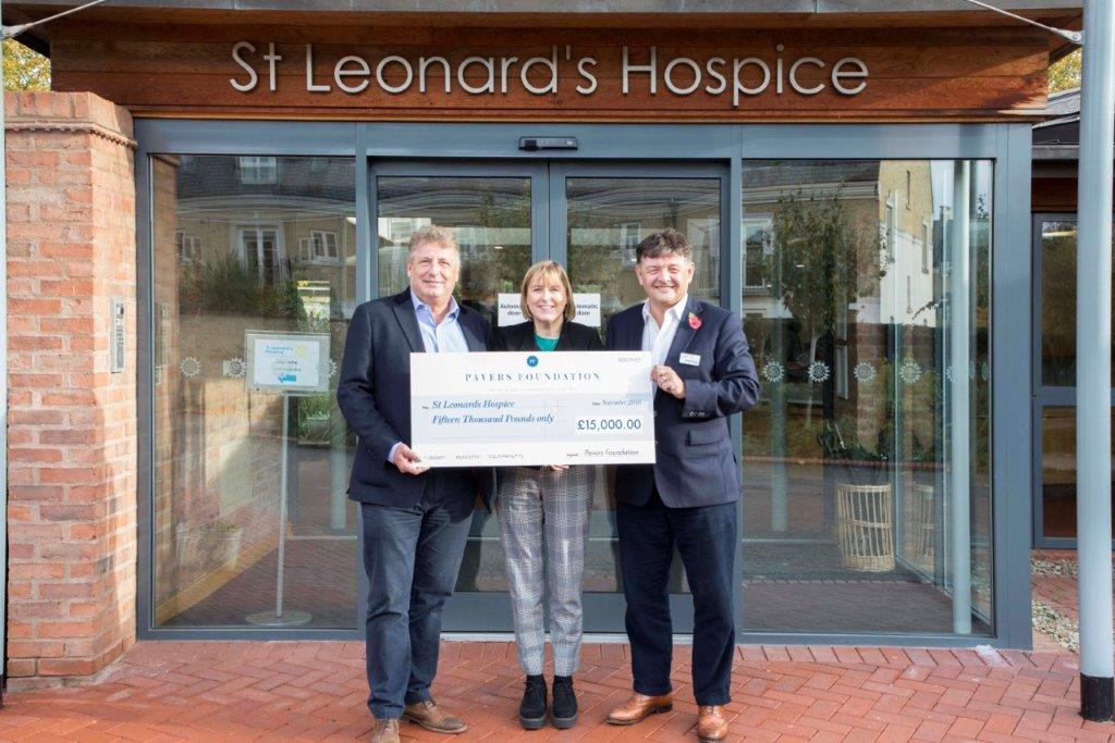The Pavers Foundation supports St Leonard's Hospice