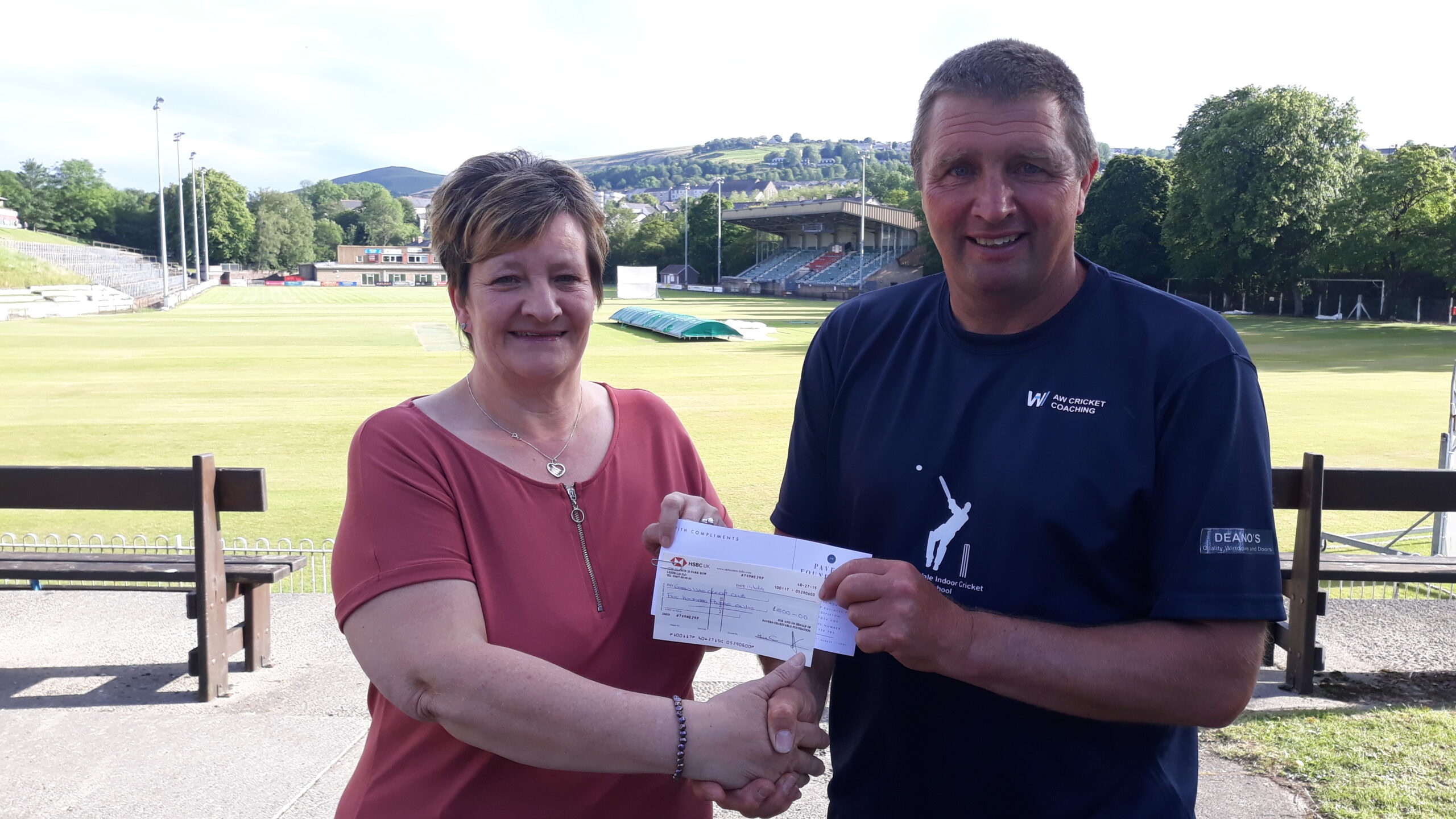 Ebbw Vale Cricket Club Receives £500 from the Pavers Foundation