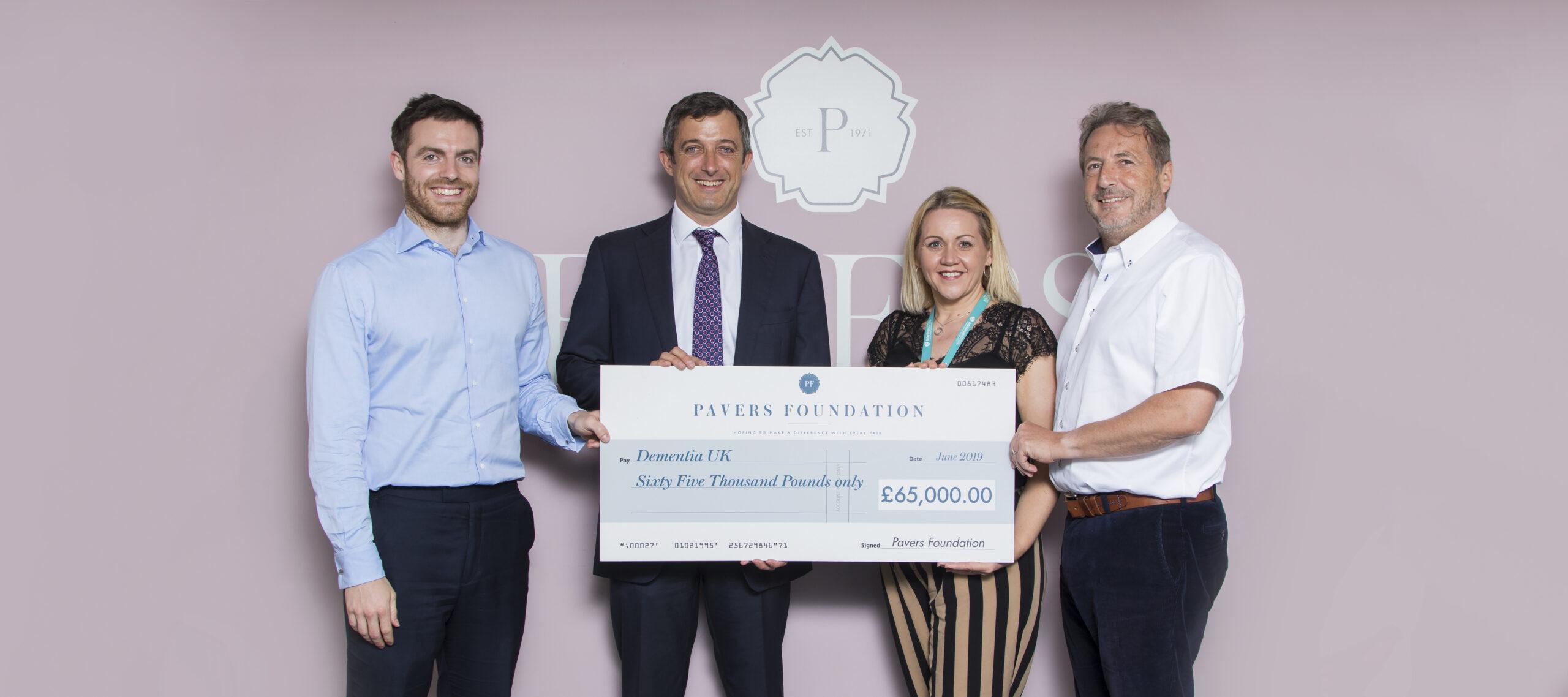 Dementia UK receive £65,000!