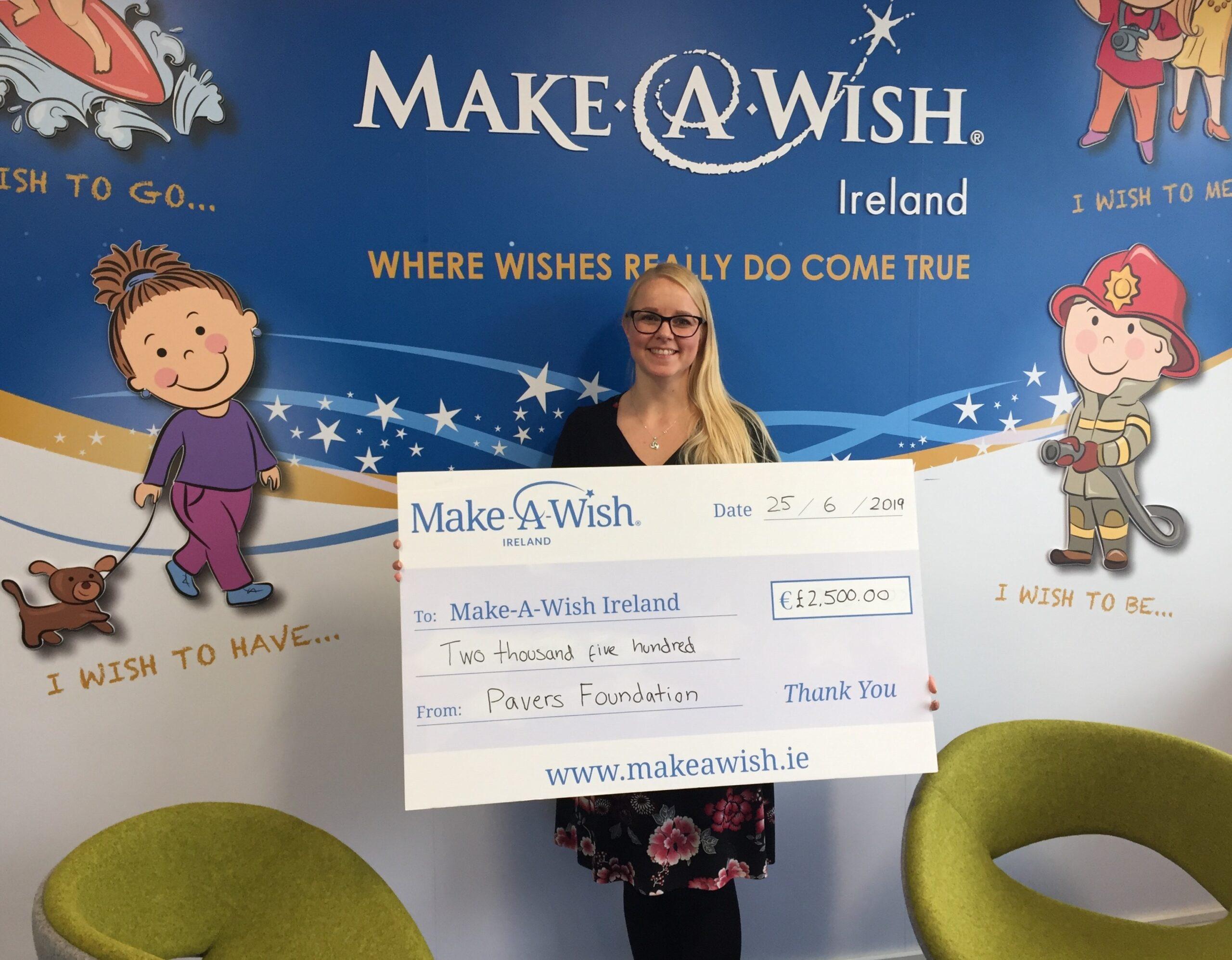 Make a Wish Ireland Receives £2,500 Following Employee Vote