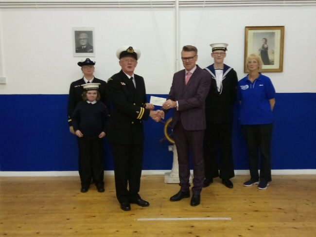 T.S Nautilus receives £700 from the Pavers Foundation