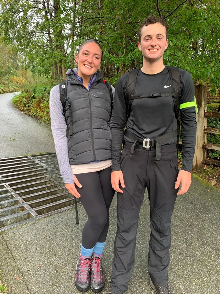Francesca and George Paver, after completed The National 3 Peaks Challenge