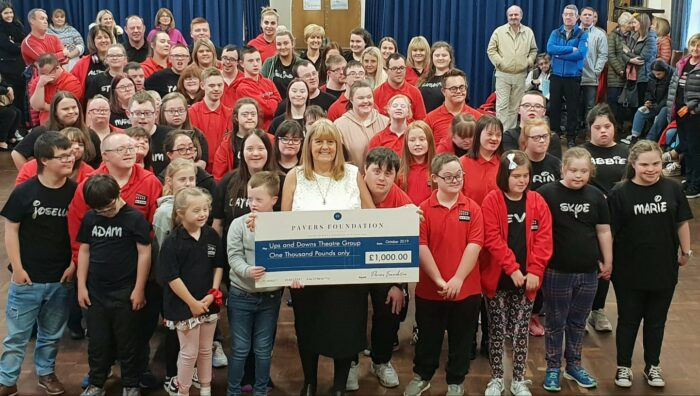 Ups and Downs Theatre Group receives £1,000 from the Pavers Foundation
