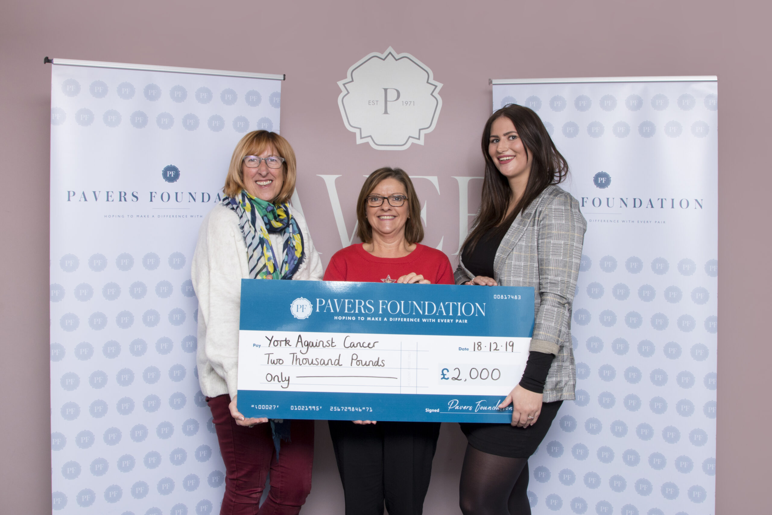 York Against Cancer receive £2,000 donation