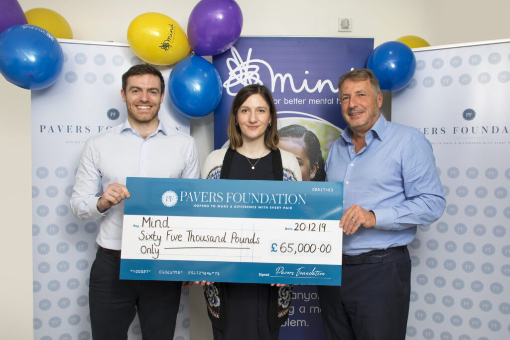 Jason Paver, Director of Sales at Pavers with Margaret Johnson, Senior Trust and Statutory Officer at Mind and Stuart Paver, Manager Director of Pavers.