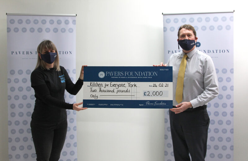 Pavers Foundation supports fellow York Charity Kitchen for Everyone with £2,000 donation