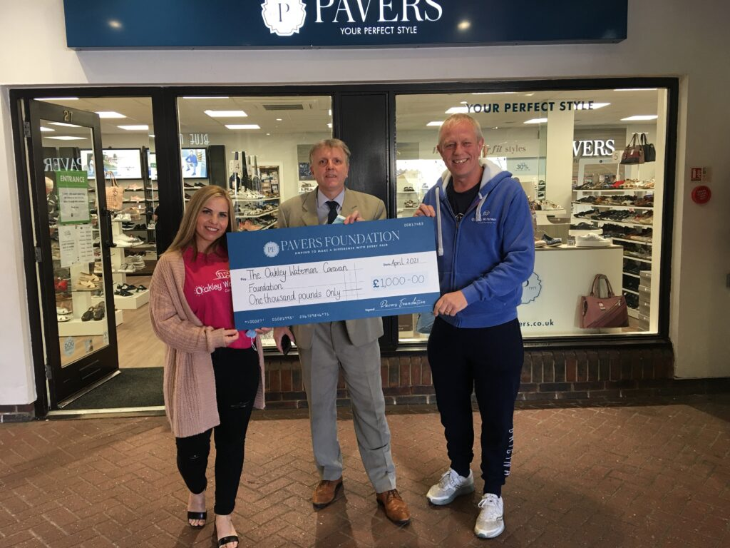 Left to right Lorraine Waterman, Charity Founder, Rick Ashby, Port Solent Store Manager and Leigh Bollard, Fundraiser.