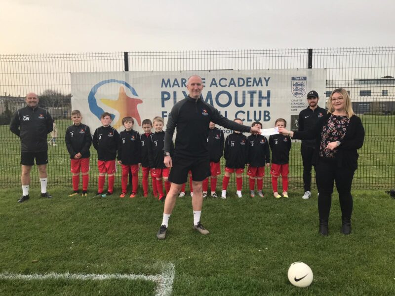 Pavers Foundation gives £1,000 to Plymouth Youth Team