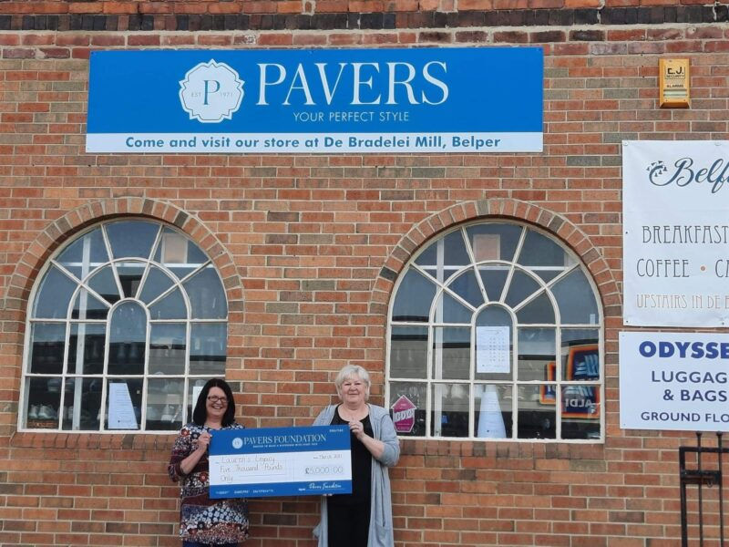 Pavers Foundation Donates £5,000 in Memory of Lauren Elliott