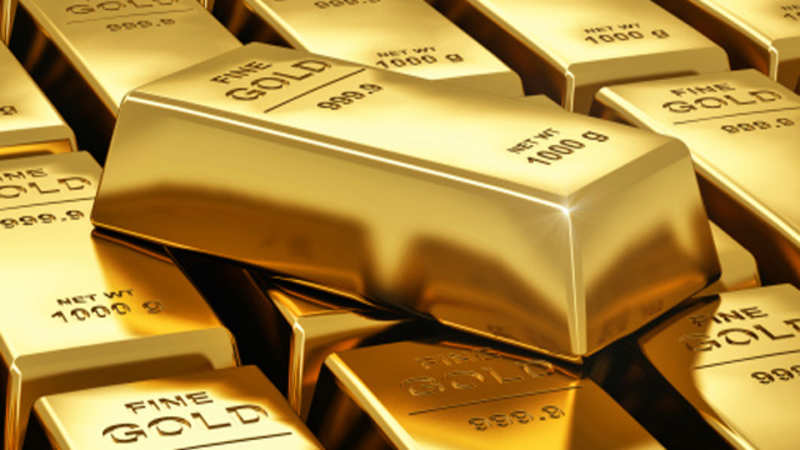Gold at over 1 month rise on inflation, fears the Indian Economy