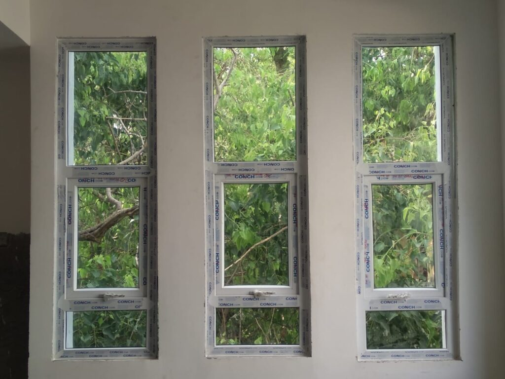 uPVC Fixed Window With Top Hung